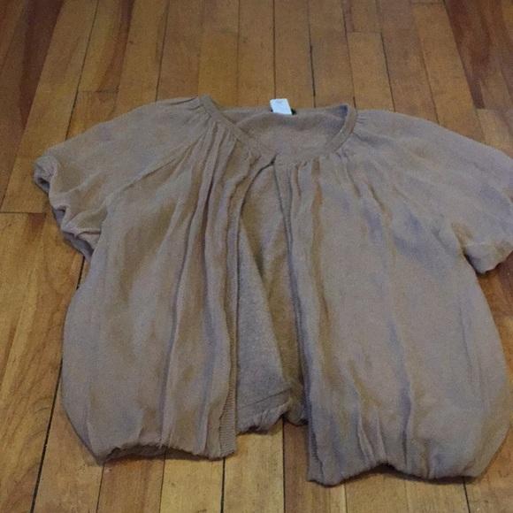 J Crew 100% silk wool/nylon/cashmere cardigan